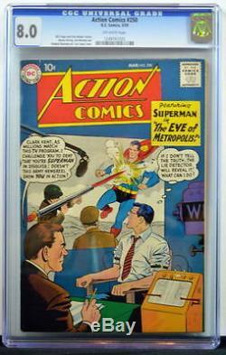 Action Comics # 250 Cgc 8.0 Superman 1959 2e Copie La Mieux Notée