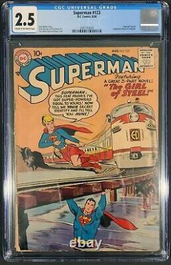 Action Comics 252 (1959) & Superman 123 (1958) Cgc 2.5 1ère Supergirl & Metallo