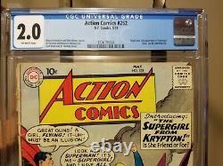 Action Comics #252 1ère App Supergirl & Metallo Cgc 2.0