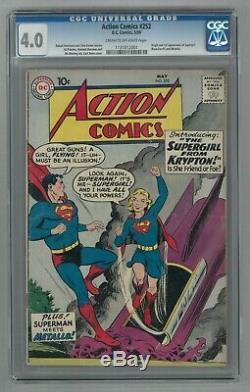 Action Comics # 252 Ccg 4.0 Vg (dc 5/1959) 1ère Apparition De Supergirl & Metallo
