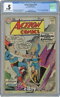 Action Comics # 252 Cgc 0.5 1959 2043355016 1er App. Super Girl