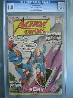 Action Comics # 252 Cgc 1.8 DC 1959 Origine 1ère Application Supergirl (kara Zor-el)