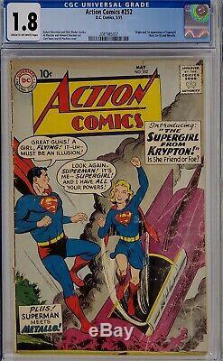 Action Comics # 252 Cgc 1.8 Superman 1er Supergirl Metallo