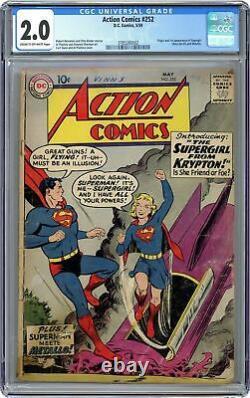 Action Comics #252 Cgc 2.0 1959 3785260002 1ère Application. Supergirl (supergirl)