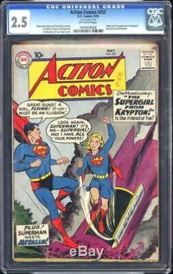Action Comics # 252 Cgc 2.5 1ère Apparition De Supergirl