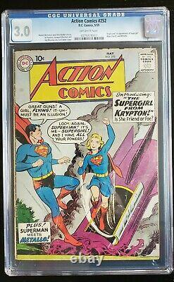 Action Comics 252 Cgc 3.0 (1958) 1ère Apparition De Supergirl