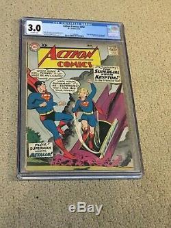 Action Comics 252 Cgc 3.0 Ow Pages (1ère Application De Supergirl-1959) Cgc # 001 + Aimant
