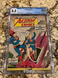 Action Comics #252 Cgc 3.5 1st Supergirl Sharp Eye Appeal Centered Unpressed Key