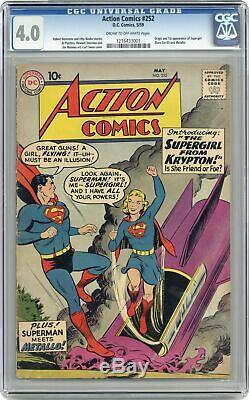 Action Comics # 252 Cgc 4.0 1959 1216433001 1er App. Super Girl