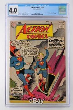Action Comics # 252 Cgc 4.0 Vg DC 1959 -superman- 1er App Supergirl Et Metallo