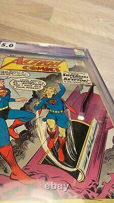 Action Comics #252 Cgc 5.0 (c2 Resto) Premier App Supergirl