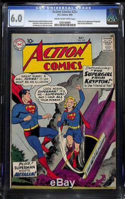 Action Comics # 252 Cgc 6.0 Origine Et Première Apparition De Supergirl! Clé