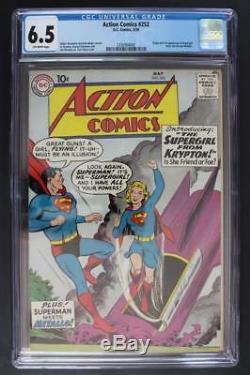 Action Comics # 252 Cgc 6.5 Fn + DC 1959 - Superman - 1ère Application Supergirl & Metallo