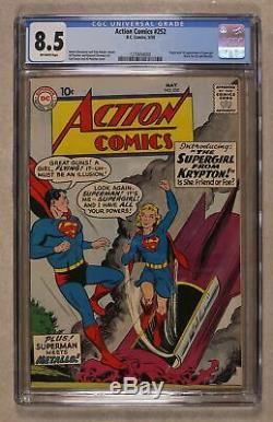 Action Comics # 252 Cgc 8.5 1959 1270654004 1er App. Super Girl