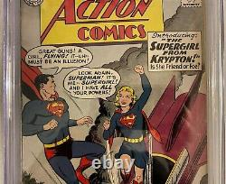 Action Comics #252 Cgc Classé 4.5 1ère Apparition & Origine Supergirl Metallo 1959