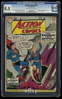 Action Comics # 252 Cgc Vg + 4,5 Crème Off White