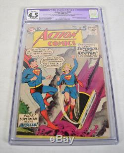 Action Comics 252 DC 1959 Cgc 4.5 Superman 1er Supergirl Kara