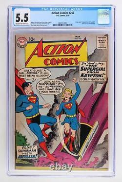 Action Comics #252 DC 1959 Cgc 5.5 1ère App & Origine De Supergirl & Metallo