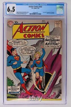 Action Comics #252 DC 1959 Cgc 6.5 1ère App & Origine Supergirl & Metallo