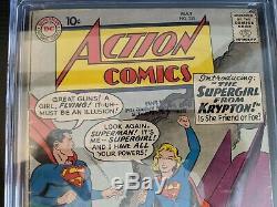 Action Comics # 252 Mai 1959 Cgc 3.0 1er App Origine Supergirl G Graded / Vg