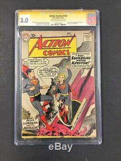 Action Comics # 252 Supergirl Origine 1ère Apparition Signée Cgc 3.0 Helen Slater