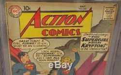 Action Comics # 252 (supergirl & Metallo 1er App.) Cgc 4.5 Vg + DC Comics 1959