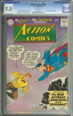 Action Comics #253 Cgc 9.0 Pages Blanches // 2e Apparition Supergirl