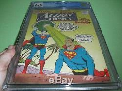 Action Comics # 254 Cgc 6.5 Avec Des Pages Owithw De 1959! 1er Adulte Bizarro Pas Cbcs