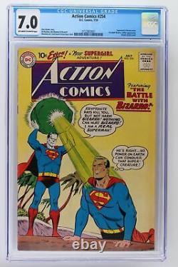 Action Comics #254 DC 1959 Cgc 7.0 Superman & Bizarro Meet! Première Bizarro Adulte