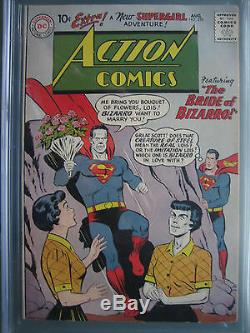 Action Comics # 255 Cgc 7.5 1959 1er App-bizarro Lois Lane