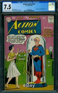 Action Comics 256 Cgc 7.5 Owithw Pages