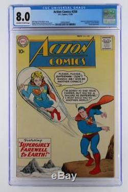 Action Comics # 258 Cgc 8,0 Vf -dc 1959- Krypto & Supergirl App (s) Superman