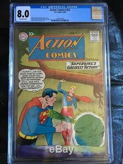 Action Comics # 262 Cgc Vf 8.0 Ow Couverture Swan Supergirl (3/60)