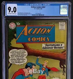 Action Comics # 262 (dc 1960) Cgc 9.0 Ow-w Plus Grande Victoire De Supergirl