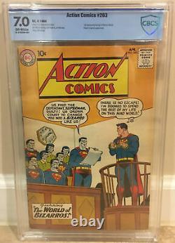 Action Comics #263 Cgc 7.0 1ère Apparence Et Origine De Bizarro World Bizarro