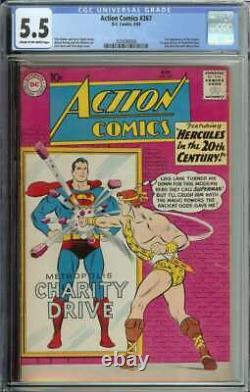 Action Comics # 267 Cgc 5.5 3e Légion App Des Super-héros 1er Caméléon Boy