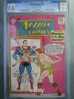 Action Comics # 267 Cgc 7.5 1960 1ère Application Caméléon Boy & Invisible Kid