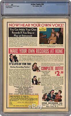 Action Comics # 26 Cgc 6.0 1940 1482249001
