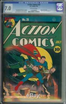 Action Comics # 26 Cgc 7.0 Pages Ow
