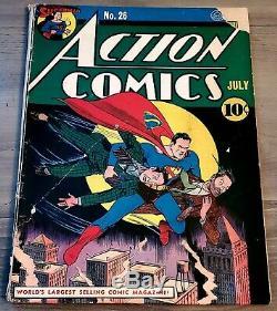 Action Comics 26 Couverture Classique Batman Scarce 1 Annonce Cgc Ready Golden Age Clé DC 2