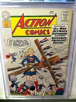 Action Comics 276 (1961)-cgc 5.0 1er Brainiac 5, Sun Boy, Fantôme Navire Sans Fille