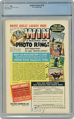 Action Comics # 276 (5/61, Dc) Cgc 3.0 Gd / Vg (1er Brainiac 5, Phantom Girl) Key