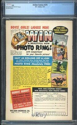 Action Comics 276 Cgc 3.5 Owithw Silver Age DC Comic Igkc L @@ K