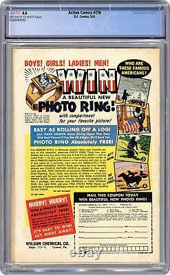 Action Comics # 276 Cgc 4.0 1961 0326482002