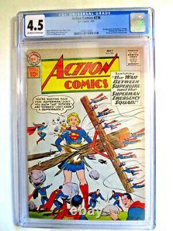 Action Comics 276 Cgc 4.5 1961 DC Key 1ère Application Brainiac 5, Sun Boy, Bien D'autres