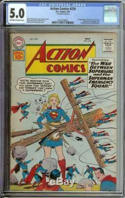 Action Comics # 276 Cgc 5.0 Avec Pages