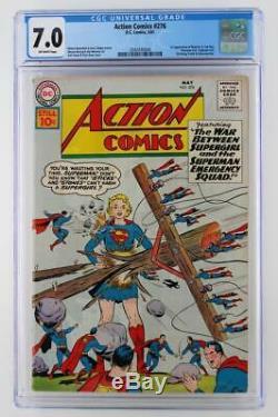 Action Comics # 276 Cgc 7.0 Fn / Vf DC 1961 Superman! 1er App Brainiac 5