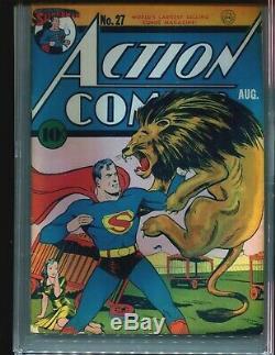 Action Comics 27 Cgc 4.5 1er Lane Couverture Siot! 1940 Superman Rare! Hot Livre