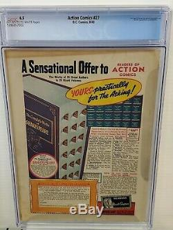 Action Comics # 27 Cgc 4.5 Golden Age Superman