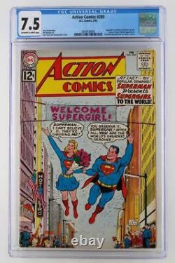 Action Comics # 285 Cgc 7.5 Vf- DC 1962 Superman! Supergirl Existence Reveal